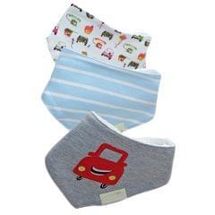 Kids Toddler Bib Infant Baby Saliva Towel -Car Striped Cartoon Pattern