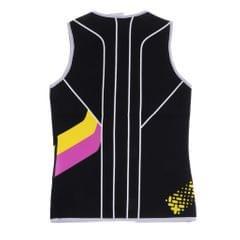 Women's 3mm Front Zip Sleeveless Wetsuit Jacket Neoprene Vest Top M Black