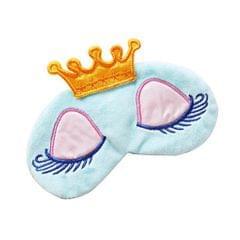 Cartoon Long Eyelash Sleeping Beauty Crown Sleeping Eye Mask Eyeshade Blue