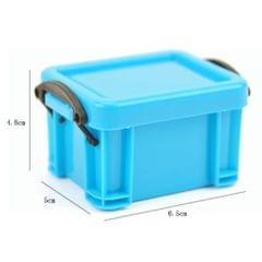 Mini Lock Box Super Cute Storage Boxes Organizer for Jewelry Light Blue