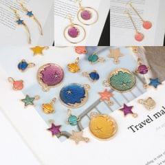 DIY Jewelry Handmade Moon Star Pendant Necklace Earrings Accessories Blue
