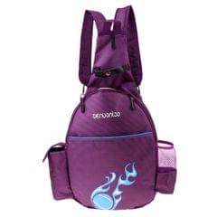Waterproof Tennis Racket Backpack Abrasion Resistance Badminton Bag Purple