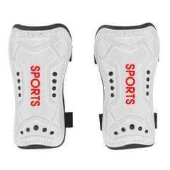 1 Pair Football Shin Pads Soccer Guards Sports Leg Protector Gear White