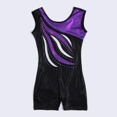 Girls Ballet Dance Gymnastics Leotards Tank Boy Shorts 7-8 Years Purple