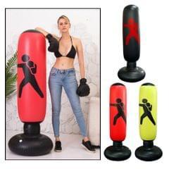 63 Inch Inflatable Boxing Punching Bag Adult Kids Sandbag Fitness yellow