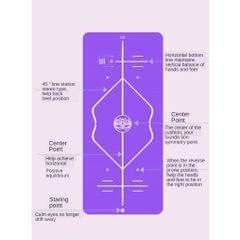Household Yoga Mat Extended Skid Fitness Nitrile Rubber 90x185cn Rose Red