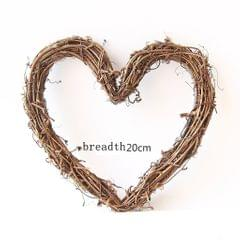Popular Artificial Plant Garland Home Wedding Decor 20cm Heart Shape