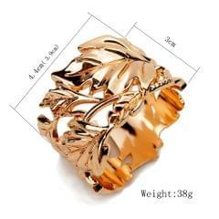 Napkin Serviette Ring Holder Wedding Party Table Decor Leaves Rose Gold