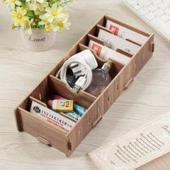 9 Dividers Name Card Wooden business card case office desktop Cherry wood