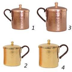 Moscow Mule Mug Cup Tea Coffee Beer Drinking Mug with Lid Copper 350ml