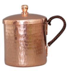 Moscow Mule Mug Cup Tea Coffee Beer Drinking Mug with Lid Copper 550ml