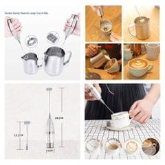 Electric Double Handheld Milk Frother for Making Cappuccinos Hot Chocolates