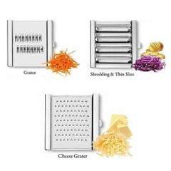 Multifunctional Vegetable Slicer Stainless Steel Grater Shredders Silver
