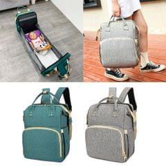Diaper Bag Backpack Foldable Travel Bassinet Change Station Multi-use Green
