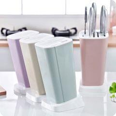 Plastic Kitchen Knife Holder Block Detachable Cutlery Display Stand  Purple