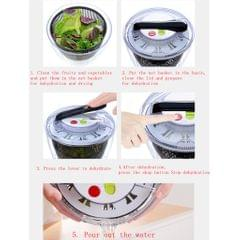 Salad Spinner, Large Capacity 5L Push-Type Salad Spinner