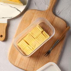 Butter Keeper with Slicer Cutter Storage Container Double Layer