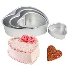 NonStick Springform Cake Tin Removable Bottom Heart Cake Mold Bakeware 7inch