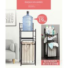 Dirty Clothes Basket Rack Double-Layer Storage Rack for Bathroom Laundry