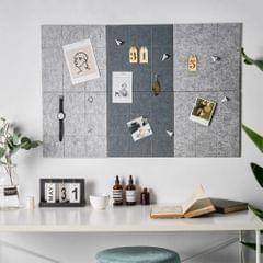Room Wall Color Felt Message Board Hanging Decoration Shop Art Gray