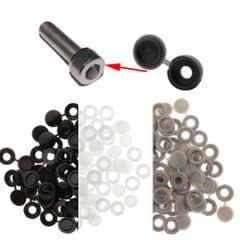 Plastic Hinged Cover Screw Caps Fold Over To Fit Size 6g or 8g Gauge 100Pcs Black