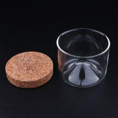 Japanese Creative Style Black Walnut Tea Cups for Office  Style-3 Cork Wood