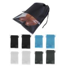 12 Portable Drawstring Pouch Travel Storage Clothes Luggage Shoe Bag Black