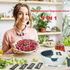 Portable Vegetable Slicer Grater Cutter Shredder with 2-in-1 Drain Basket