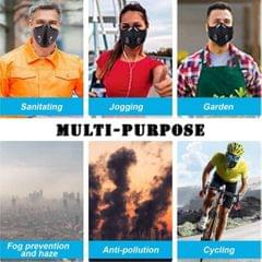 Cycling Half Face Mask Bicycle Adjustable Facemask Anti-dust PM2.5 Filter