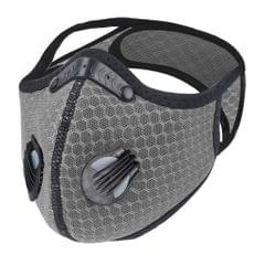 Cycling Half Face Mask Biking Adjustable Facemask Antidust PM2.5 Filter Gray