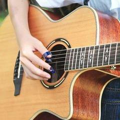 4x Thumb &Finger Picks Thumbpick for Fingerstyle Acoustic Guitar Bass Random