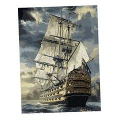 Frameless DIY Painting By Numbers Canvas Painting Art Picture Sailing