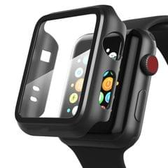 Smart watch full coverage case matte finish tempered glass screen protector
