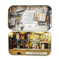 Funny Wooden Puzzle Box Theater DIY Miniature Dollhouse