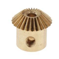 0.5 Modulus Brass Bevel Gear 25 Tooth 3 to 5mm Diameter Hole 3mm Hole