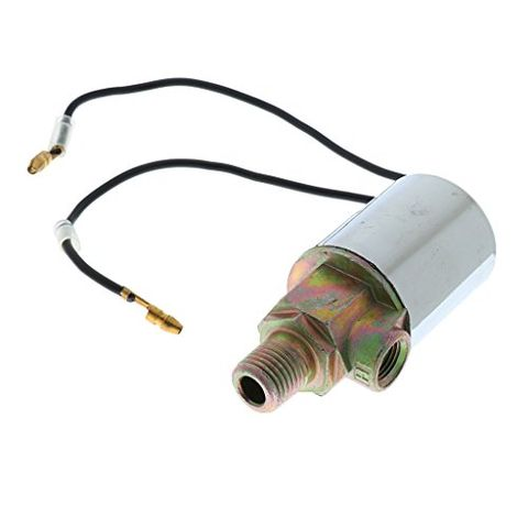 12V Car Replacement Air Horn Electric Solenoid Valve Heavy Duty 1/4inch Barb 1/8inch Inlet