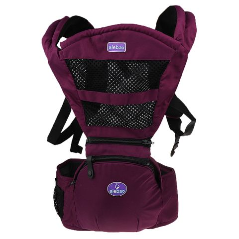 Unisex Baby Hipseat Carrier Backpack 5 In 1 Carry Ways Carrier Sling Purple