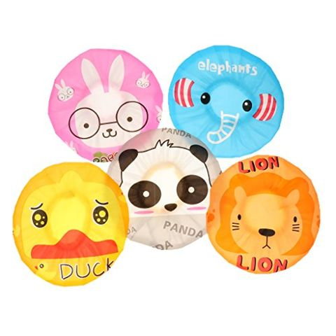 5x Cartoon Waterproof Elastic Shower Cap Bath Cap For Adult Women