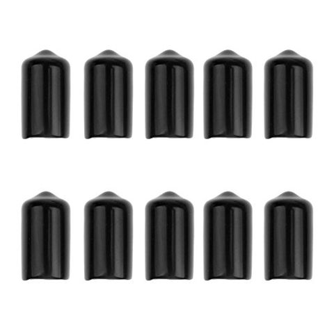 Set of 10 Black Rubber Protective Cover Case for Snooker Cue Tips