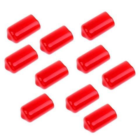 10 Pieces Snooker Billiard Cue Tip Rubber Protector Red