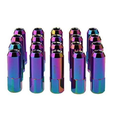 20 Pieces Universal M12x1.25MM Color Car Wheel Rim Aluminum Lug Nuts 60mm Long