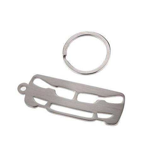 3mm Vehicle Wiredrawing Keychain for BMW 3 Series Holder Silver Zinc Alloy
