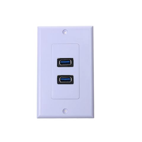 Dual Port USB 3.0 Wall Plate Charger Outlet Socket Receptacle PVC Housing Easy Installation