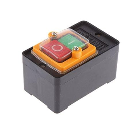 ON/OFF Waterproof Push Button KAO-5/BSP210F-1B Craftsman Bench Drill Press Switch 10A Reset