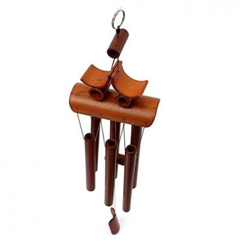 60cm Handmade Bamboo 6-Tube Windbell Chapel Bells Wind Chimes Room Decor