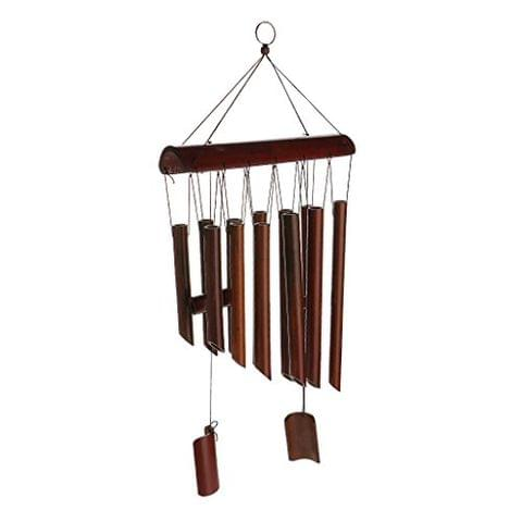 Generic Large Bamboo 8 Tube Wind Chimes Mobile Windchime Church Bell Hanging Decor