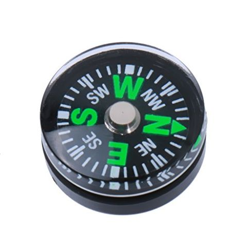 5pcs 15mm Mini Button Compass for Camping Hiking Learning