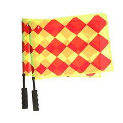 Set of 2 Soccer Referee Flag Sports Match Football Linesman Flag Hockey Training Nylon Flag