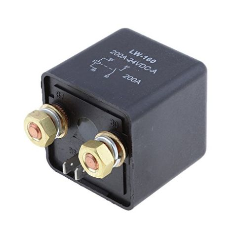 DC 24V 200A 4 Terminals Split Charge ON/Off Relay for Car Truck Tractor Boat