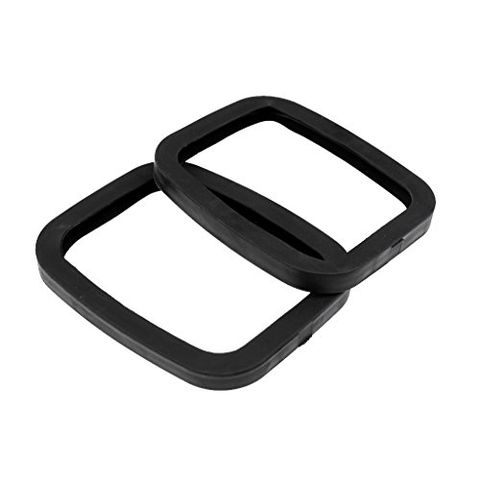 1 Pair Anti-Scratch Black Rubber Roller Road Drift Inline Skates Plate Edge Guard Accessories 6.7 x 5.6 x 0.6 inch